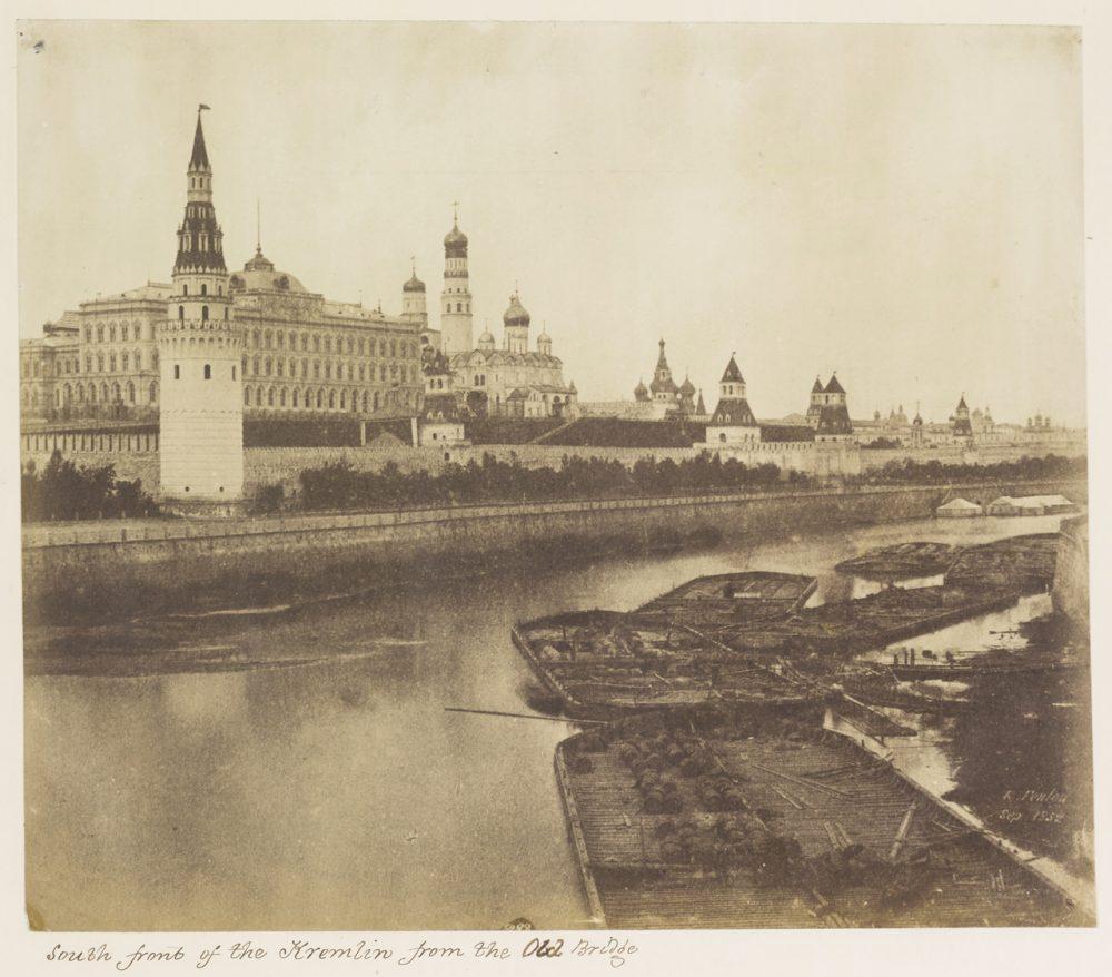 76. Южная часть Кремля со Старого моста. 1852