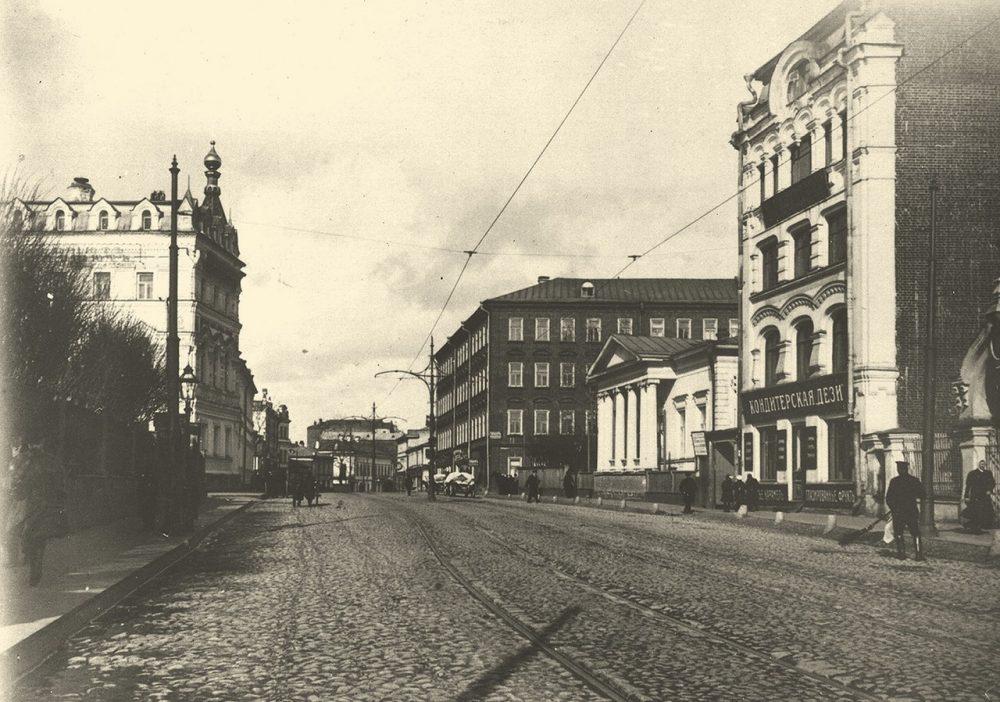 217. Остоженка. Вид в сторону центра.1913