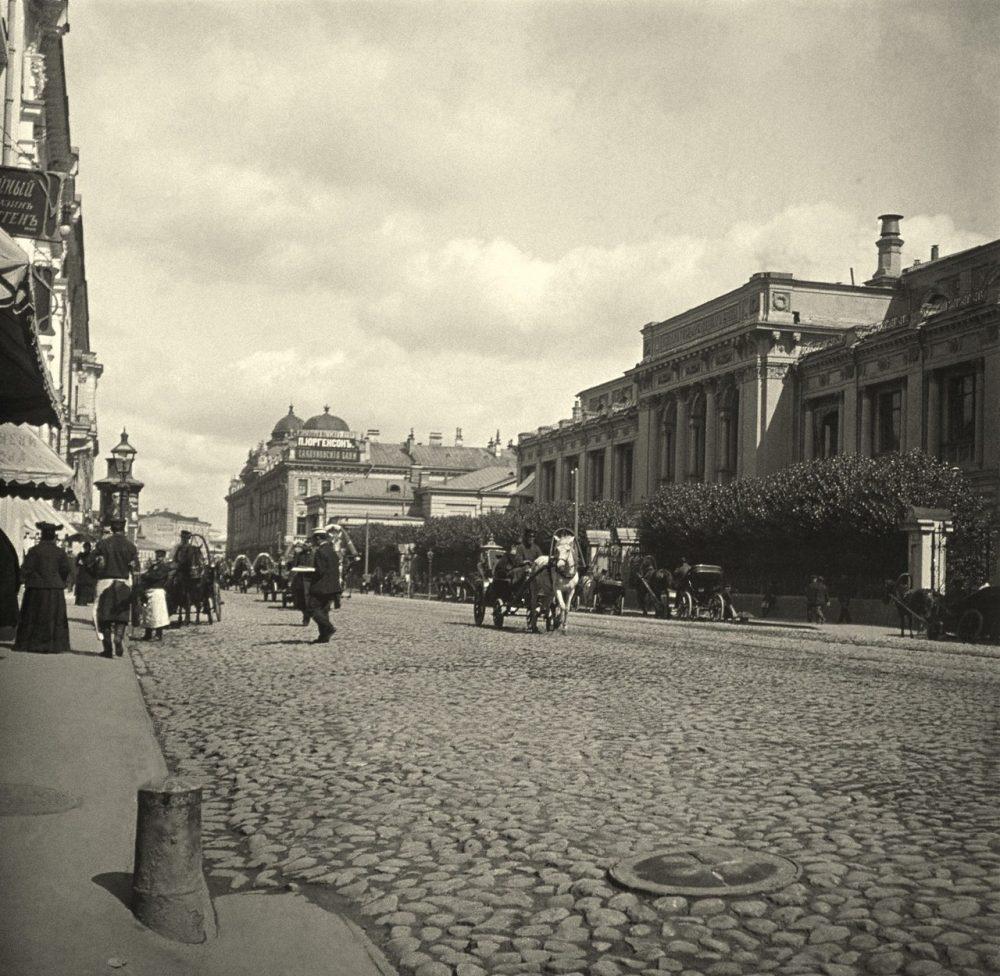 211. Неглинный проезд у Государственного банка.1905-1907