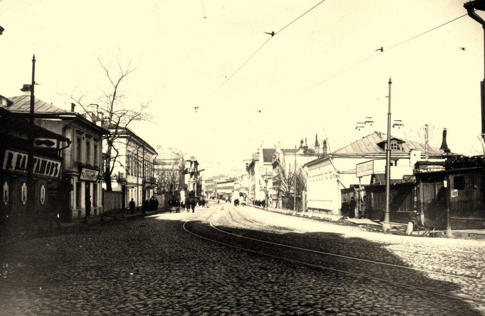 215. Остоженка в сторону центра.1913