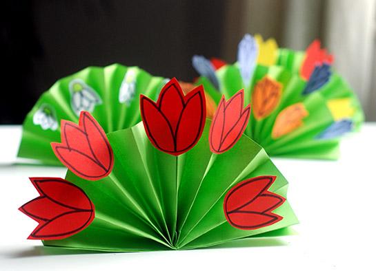 Детский цветок из бумаги своими руками