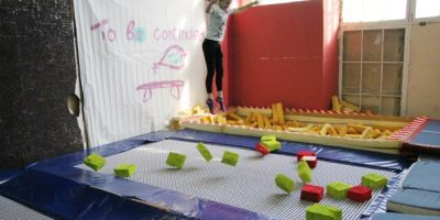 Праздник для детей в батутном клубе Trampoline House