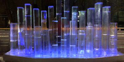 Интерактивный ледяной орган в саду имени Баумана