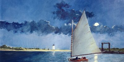 Мастер-класс по живописи маслом с использованием мастихина «Парусники»