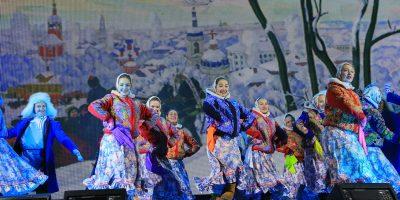Масленица в«Ледовой Москве» наПоклонной горе отпрограммы «Вкругу семьи»