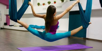 Занятия аэростретчингом в студии растяжки Top Stretching