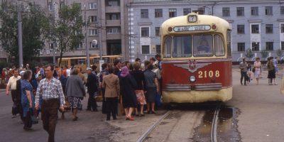 Советские трамваи. Сборник ретро-фото 1985г. Фердинанд Хьюзер и