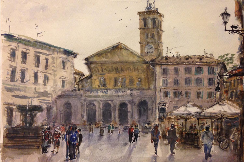 Выставка «Акварельный Рим»