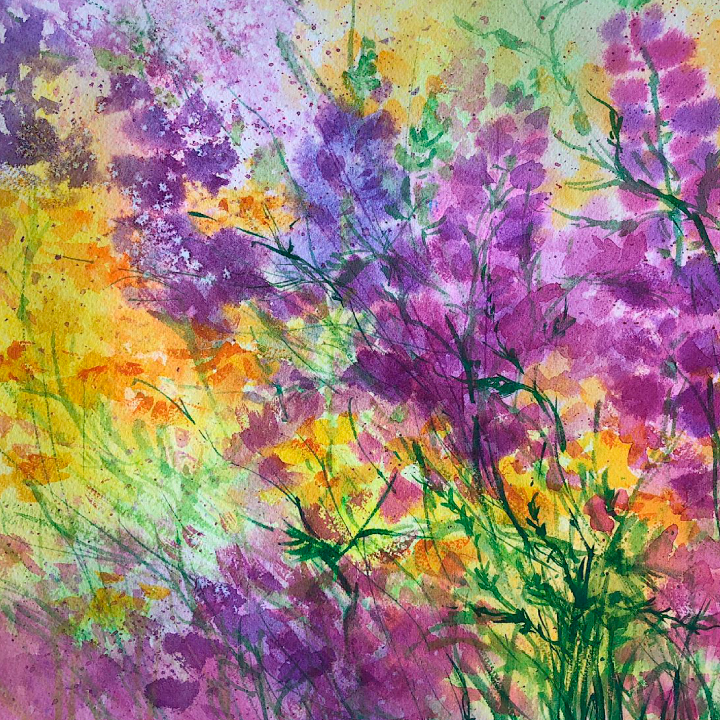 Мастер-класс Полевые цветы. Акварель