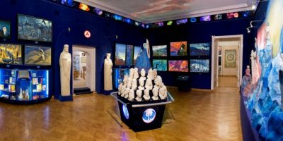 Экспозиция в Общественном музее имени Николая Рериха