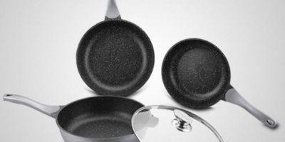 Наборы сковородок с мраморным покрытием Royalty Line в интернет-магазине Parovarovkitchen.ru со скидкой до 77%