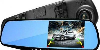 Автомобильный видеорегистратор-зеркало с камерой заднего вида Vehicle Blackbox DVR Full HD со скидкой до 67%