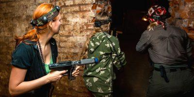 Открытые игры по лазертагу в клубе «Лабиринт»